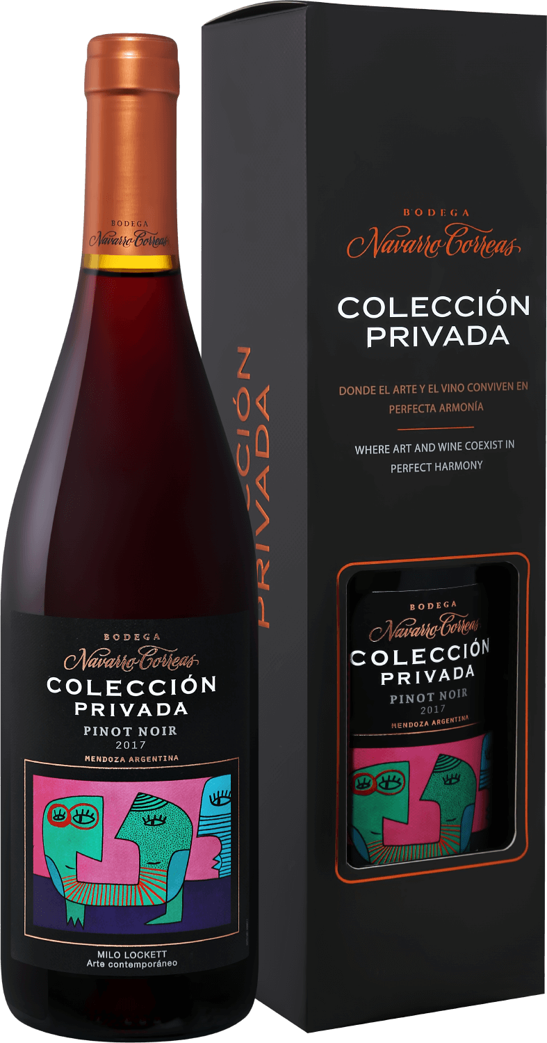 Coleccion Privada Pinot Noir Mendoza Bodega Navarrо Correas in gift box, 0.75л