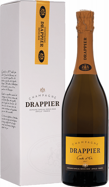 Drappier Carte d'Or Brut Champagne AOP in gift box,  0.75л