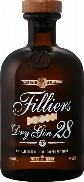 Filliers Dry Gin 28 Classic,  0.5л