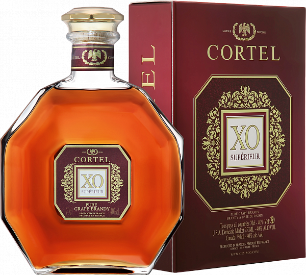 Cortel XO Superior Brandy (gift box), 0.7л