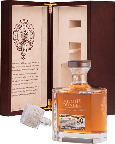 Angus Dundee Blended Grain Scotch Whisky 50 YO (gift box), 0.7л